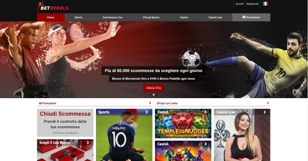 Betrebels Italia - homepage